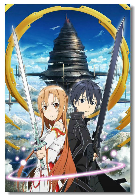 Buy sword art online kirito asuna silk for Buy art posters online