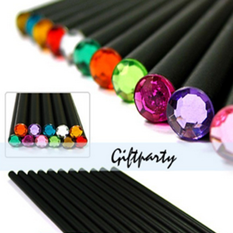 New Arrival ! Basswood HB Pencil With Colorful Diamond Kawaii  School Painting Drawing Writing Children  Charcoal<br><br>Aliexpress