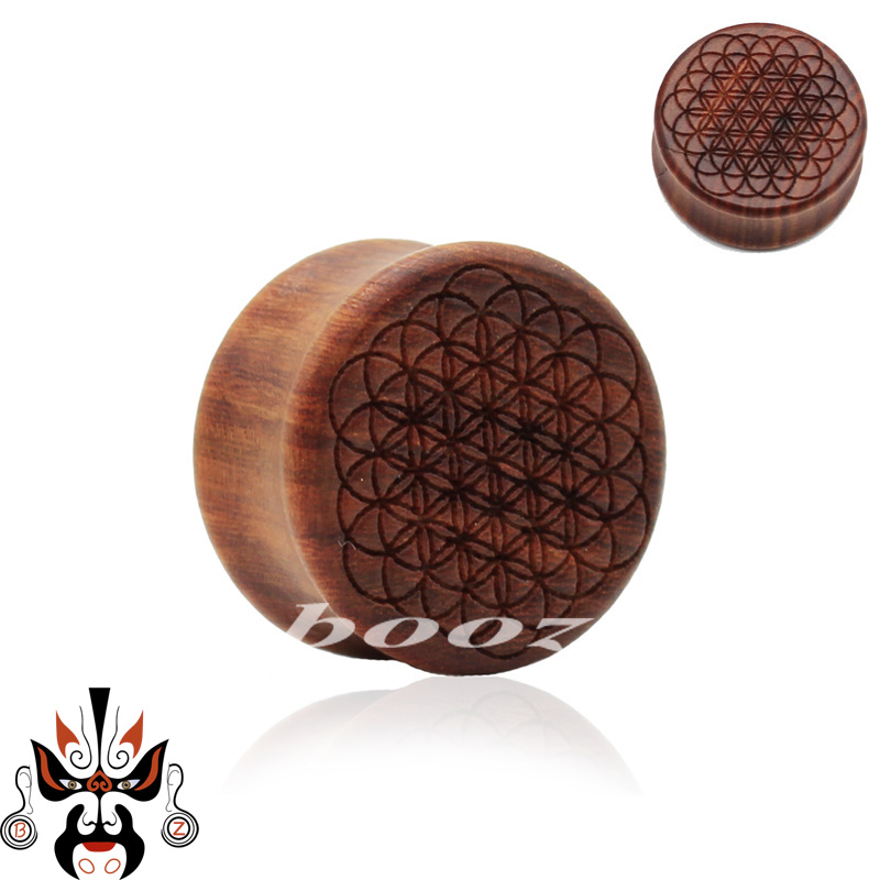 hot sell life tree wood ear piercing plugs tunnel body jewelry wood ear gauges sell in pair 10mm to 25mm(China (Mainland))