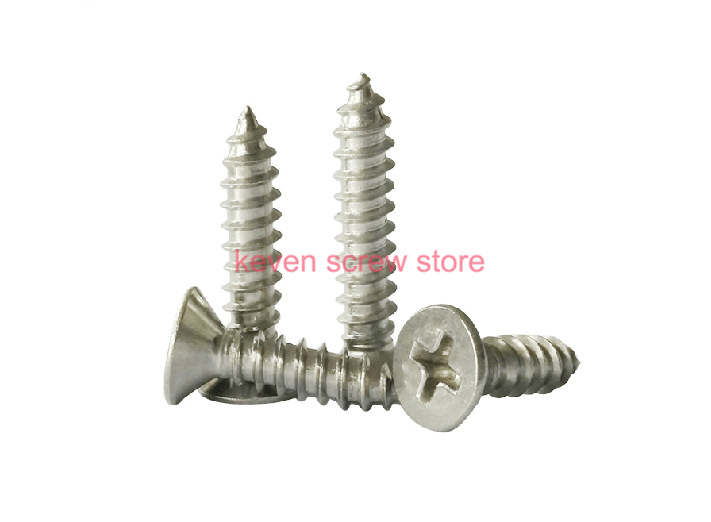 Free Shipping 100pcs GB846 M4.8x32 mm M4.8*32 mm 304 Stainless Steel flat head cross Countersunk head self tapping screw<br><br>Aliexpress