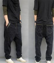 Harem jeans men Fashion Casual Men biker denim jeans Hip hop Jeans Jean joggers Pantalones Plus Size S-7XL(China (Mainland))