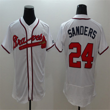 2016 Men's Flexbase #24 Deion Sanders Stitched throwback baseball jersey,Color White red gray(China (Mainland))