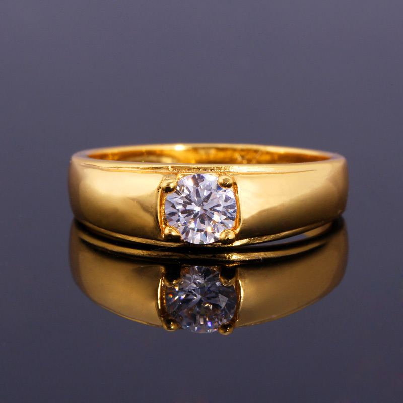 Gold Ring Cubic Zirconia Ring 2015 New 18K Gold Platinum Plated Top Quality