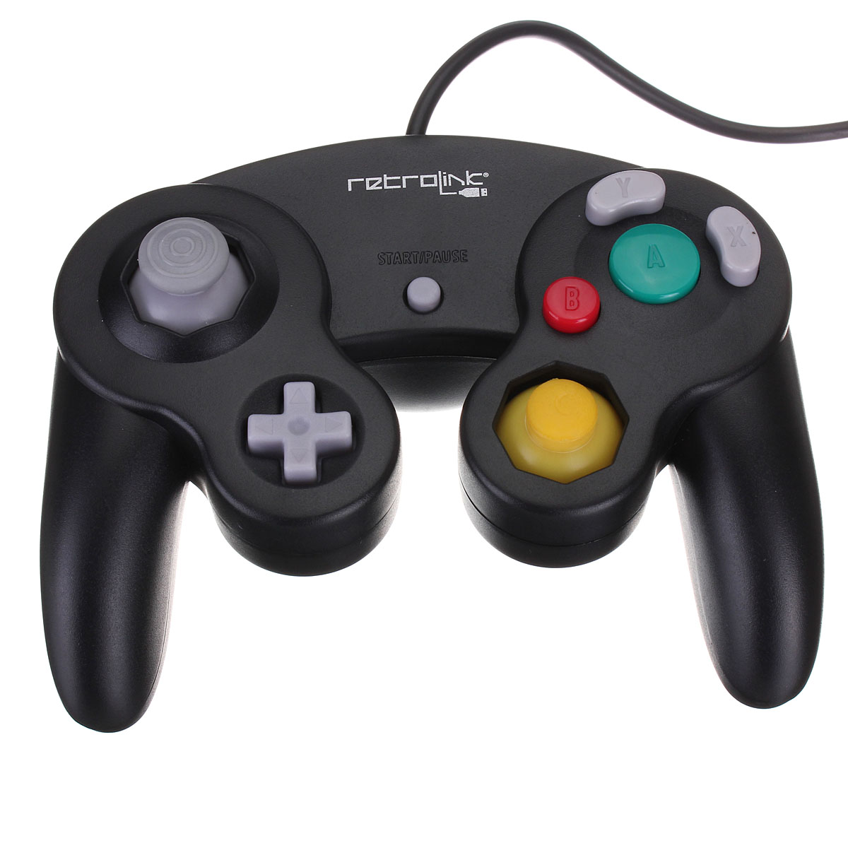 Hot New Black USB Wired Controller Joypad Joystick for Nintendo for Gamecube for NGC GC for PC for MAC Computer Pad(China (Mainland))