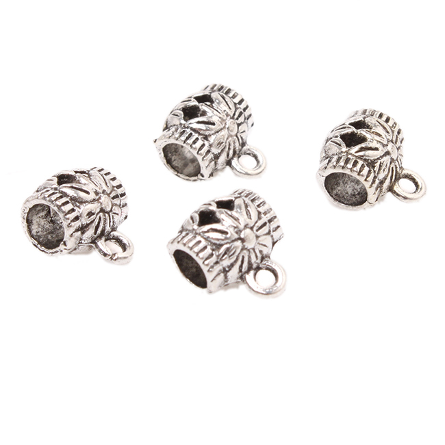 2015 Very Popular 150pcs/lot Antique Silver Hollow Out Barrel Big Hole Beads Fits Bracelet Jewelry P10088(China (Mainland))