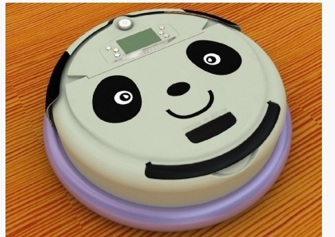 Free Shipping For Singapore Buyer Lovely Panda Face 4 In 1 Multifunctional Vacuum Robot Cleaner,LCD Screen,Schedule Work(China (Mainland))