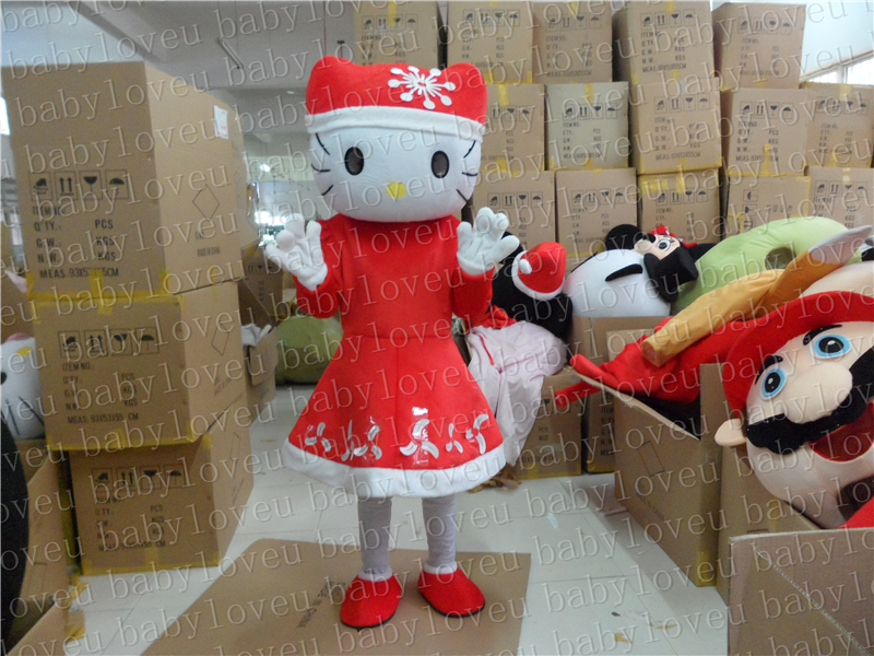 christmas kitty cat mascot costume halloween costumes party costume dinosaurs fancy dress christmas kids gift surprise