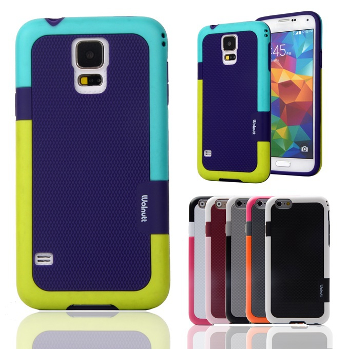 Candy Double Color ARMOR Soft TPU Hybrid Back <font><b>Case</b></font> For Samsung Galaxy S4 I9500 SIV I9505 I9507V 5.0