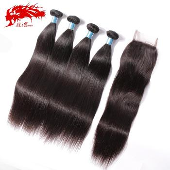 6A Peruvian Virgin Hair Straight 4 Bundles With Closure Free Shipping Factory Price,4 Bundles Peruvain Straight With 1 Closure