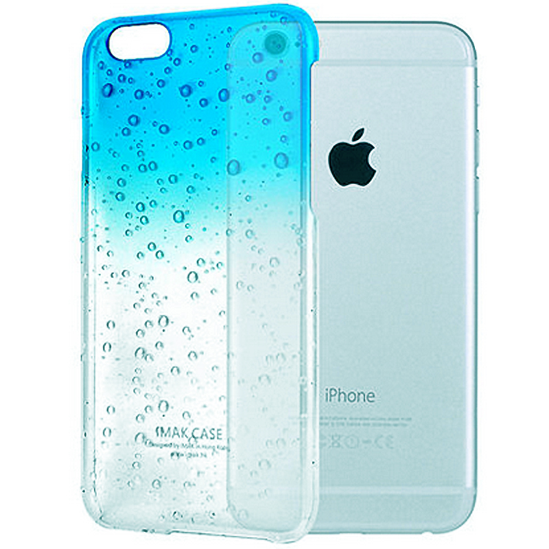 Raindrop Ultra Thin 3D Waterdrop Hard Back Cover Crystal Semi-Transparent Colorful Phone Case For iphone 4s 5 5s 6 6s 6/6s plus(China (Mainland))
