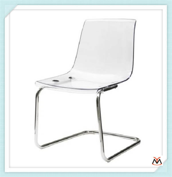 leather dining room acrylic chair(China (Mainland))