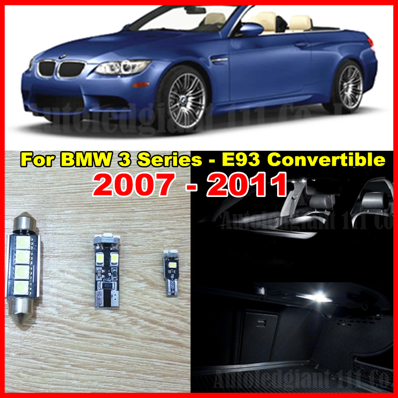 17x White Led Interior Light BMW 3 Series - E93 Convertible LED lighting Package 335i M3 Kit 2007-2011 Canbus EcoFri Car Factory store