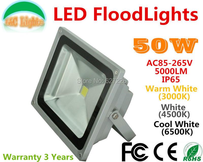 Direct sales Dimmable 50W LED Flood lights 110V 220V Waterproof Cast light Outdoor Spotlights CE RoHS Advertising light 4Pcs/Lot(China (Mainland))