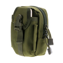 Military Molle PALS Belt Waist Pack Travel Camouflage Hunting Phone Pouch Hiking Running Outdoor Sports Equipment bag Army Green