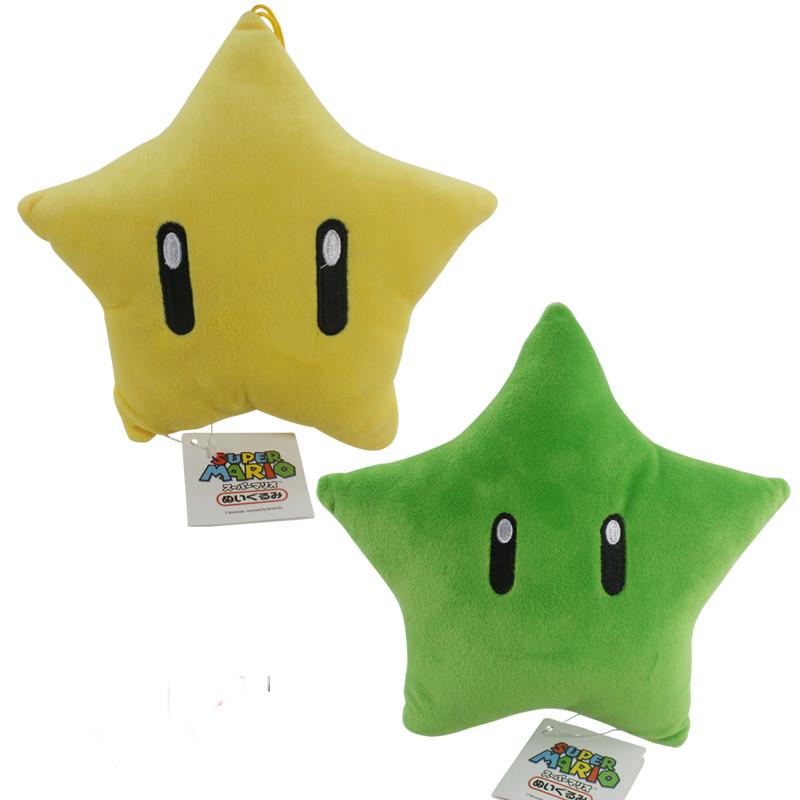 23cm 2016 new Super mario plush toy series yellow star or green star(China (Mainland))