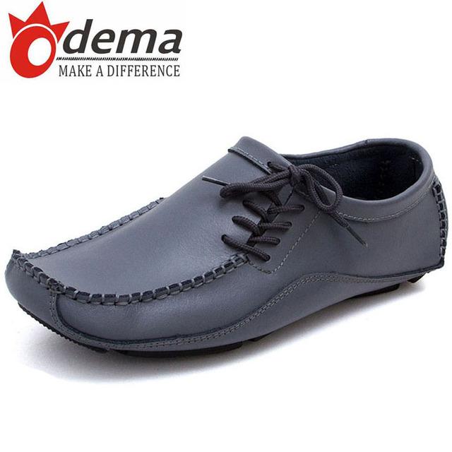 ODEMA Men Casual Shoes PU Driving Moccasins Slip On Men's Shoe Boat Shoes Loafers Men Shoes