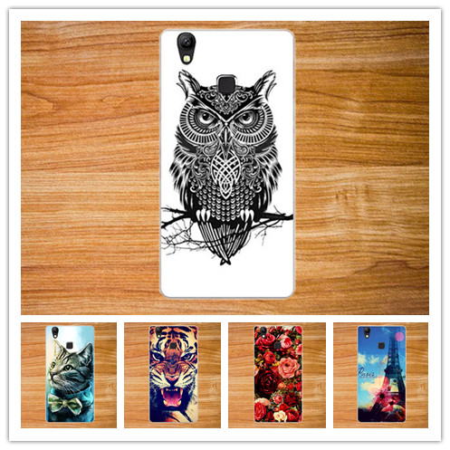 New Brand Arrival Colorful Case For DOOGEE X5 Max Rose Flower Eiffel Tower Cute Animal Type For Doogee X5 Max Fashion case cover(China (Mainland))