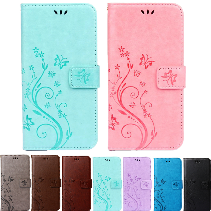 Hot Butterfly Fly Flower Leather Flip Book Wallet Cell Phone Case Soft Cover for Sony Xperia M2 Z3 Z3 Compact Z4 Z5 Z5 Compact(China (Mainland))