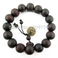 Buddhist Tibetan Buddha Bracelet Men Prayer Beads Natural Handmade Bracelet Bangle Wrist Ornament Wood Buddha Bead Women H5071 P(China (Mainland))