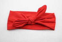 New Baby Cotton Headband White knot tie headband headwrap Vintage Head Wrap Photo Prop stretchy Knot