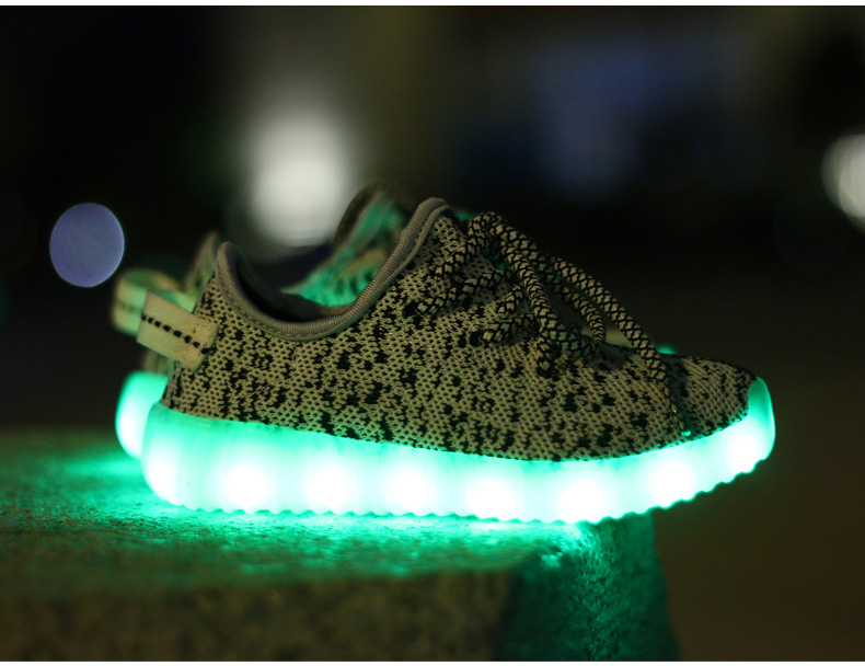 Eur25-35 usb charging breathable summer children basket led shoes kids with lights up luminous shoes for girls&boys sneakers