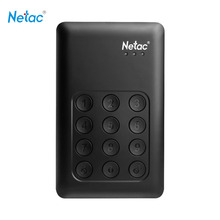Netac Original K390 USB3.0 External Hard Drive Disk 2TB 1TB 500GB Keypad Lock AES 256-bit Hardware Encryption HDD(China (Mainland))