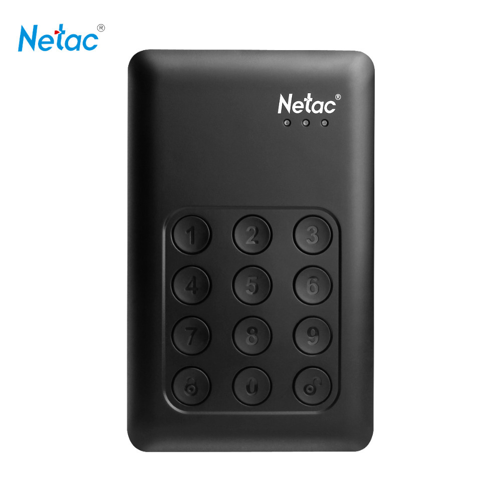Netac K390 USB 3.0 External Hard Drive 500GB 1TB 2TB Keypad Lock AES 256-bit Hardware Encryption HD Externo Disco HDD Disk(China (Mainland))