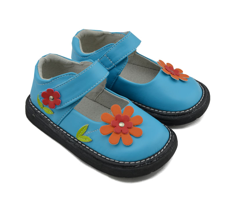 Aliexpress.com : Buy girls shoes leather turquoise flowers ...