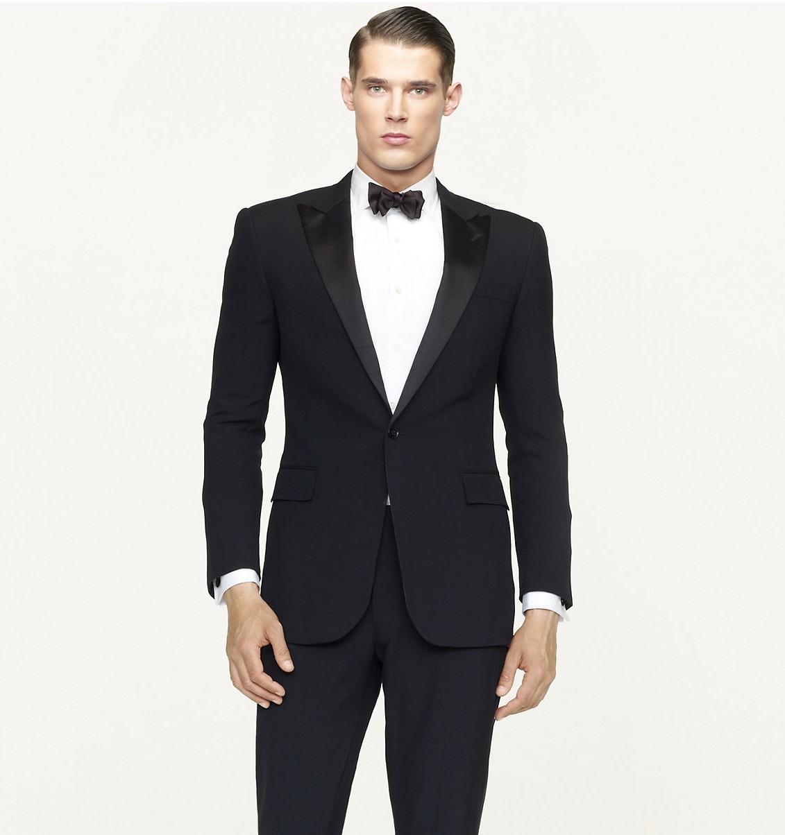 Aliexpress.com Comprar Trajes para hombre con pantalones smoking baratos Mens Blazers alcanzó solapa hombres trajes trajes traje negro de la boda para