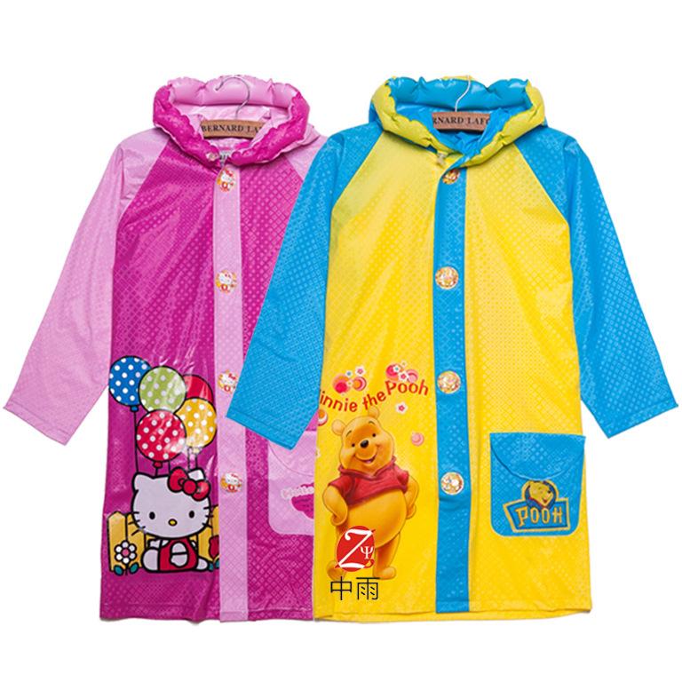 2016 Student Raincoat Baby Children Cartoon Kids Girls Boys Rainproof Rain Coat Waterproof Poncho Rainwear Waterproof Rainsuit(China (Mainland))