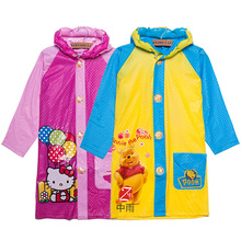 2016 Student Raincoat Baby Children Cartoon Kids Girls Boys Rainproof Rain Coat Waterproof Poncho Rainwear Waterproof Rainsuit(China (Mainland))