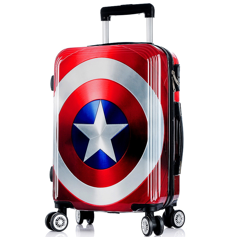 20/24/26 inch High quality cool Captain America trolley case ABS+PC Travel luggage rolling suitcase men business Boarding box(China (Mainland))