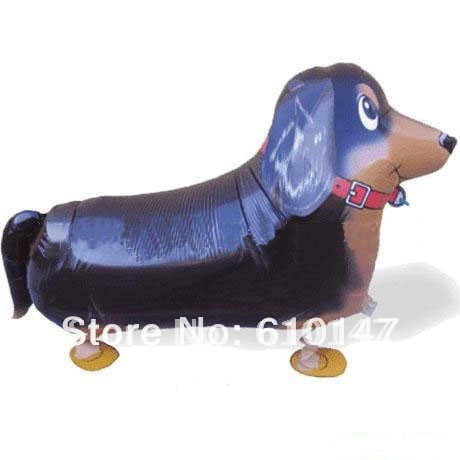 Free shipping 20pcs/lot my own pet balloon Dachshund walking balloon Party balloons