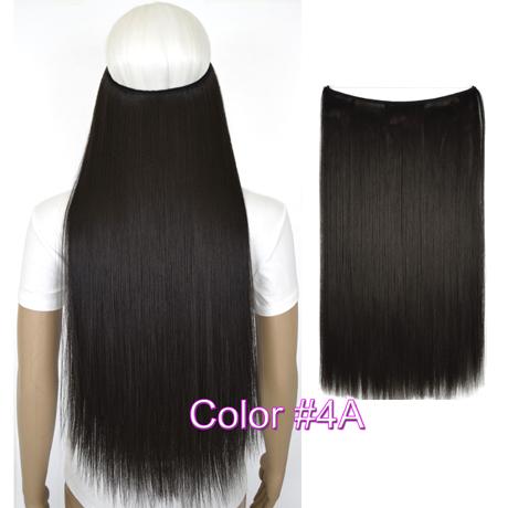 """Верхние термостойкие B5 синтетические волосы 20 """"50 см 50 г эластичность невидимая 4A"""