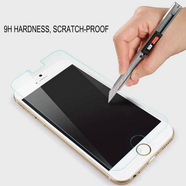 10 pcs/lot Explosion-Proof Premium Tempered Glass Screen Protector Film For iPhone 6 Plus 5.5 Inch Anti Fingerprint Wholesale