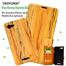 Buy PU Leather Fashion Flip Wallet Style Case Sony Xperia E3 Dual D2203 D2206 D2243 D2202 D2212 6.1'' Slim Wood Grain Back Cover for $1.98 in AliExpress store