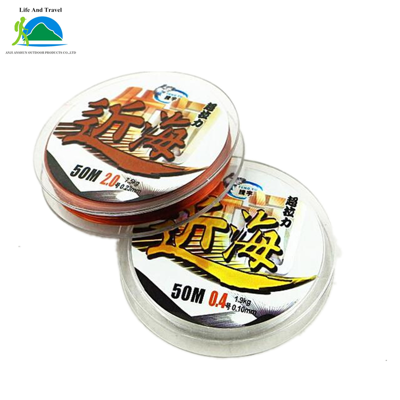 50 M Taiwan Fishing Line Strands Main Fishing Line Good Athletic Gear Fishing Rods And Wires Hand-cut Soft Aqueous(China (Mainland))