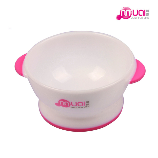 Baby slip-resistant pp binaural rice bowl baby tableware training bowl bisphenol a