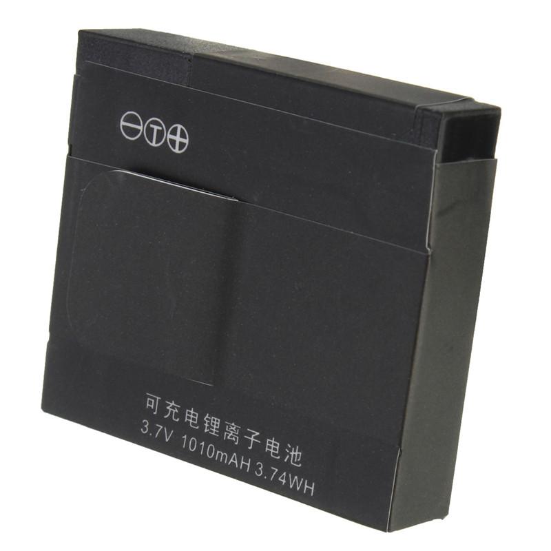 Black  3.7V 1010mAh Li-ion Rechargable Backup Battery For Xiaoyi for Xiaomi Yi Sports Action Camera Accessories