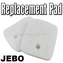 2PCS JEBO REPLACEMENT FINE WHITE FILTER PAD INSERT 828 829 838 839(China (Mainland))
