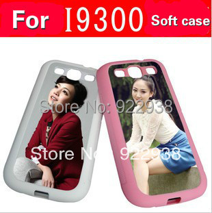 2D TPU silicone sublimation case for sumsung S3 i9300 PC case with aluminium metal sheet with glue 50pcs/lot(China (Mainland))