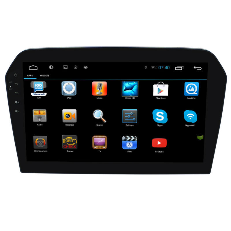 10.2 inch 2 din android big screen auto radio car dvd player with gps ...
