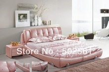 popular genuine leather bed