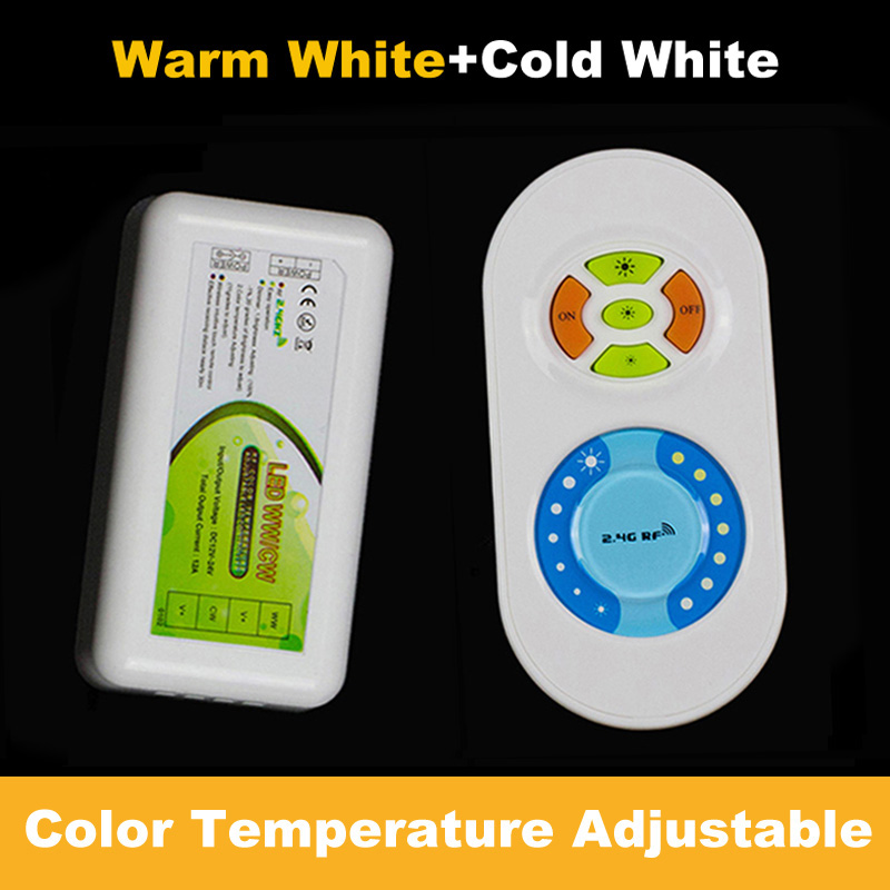 2.4g LED dimmer for color temperature adjustable with touch RF wireless Remote Controller for double color strip light Lamp<br><br>Aliexpress