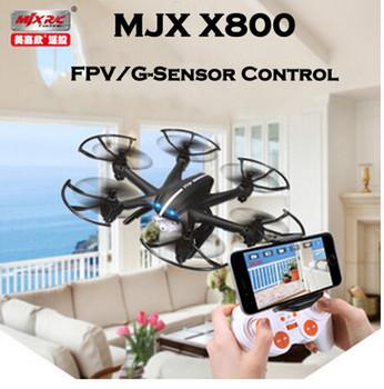 Бесплатная доставка MJX X800 / X800C 2.4 г 6-Axis RC беспилотный вертолет может добавить C4005 FPV hd-wifi камеры белый и черный Syma X5SW X5C