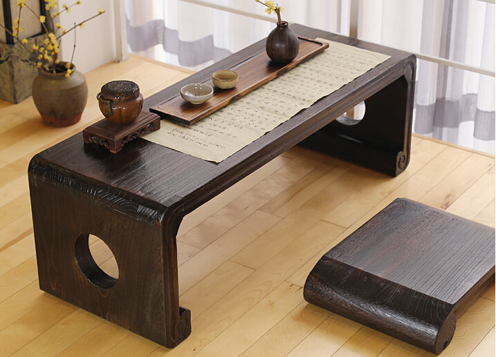 Japanese Console Table Piano Bench Rectangle 120*50cm Asian Antique Furniture Living Room Oriental Floor Side Table Wooden(China (Mainland))