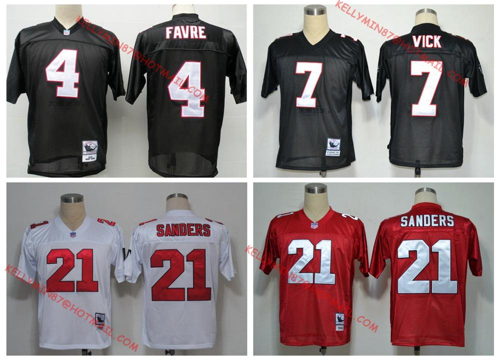 100% Stitiched,Atlanta Falcons,Deion Sanders,brett favre,Vick,Throwback for men,camouflage(China (Mainland))