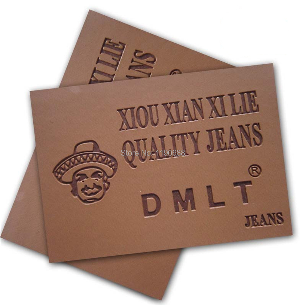 Custom PU Leather Label/leather patch for jeans 500pcs/lot(China (Mainland))