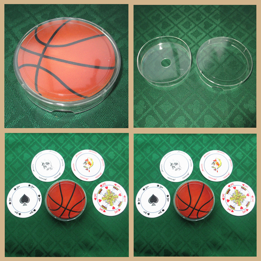 10pack/lot Free shipping nonstandard size 300G basketball theme round shape poker set playing card as collection novelty cards(China (Mainland))