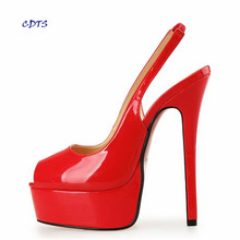 Shoes Women Sandals Large Size 12 13 14 E+ Wide Peep Toe Stilettos 16cm Thin High Heels Women wedding pumps Plus:40-46 47 45 48(China (Mainland))